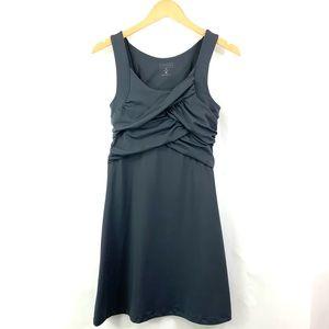ATHLETA Gray Draped Tunic Dress Sleeveless H2